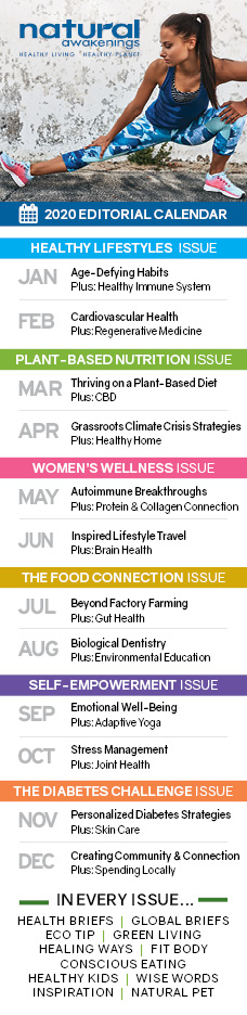 2020 Natural Awakenings Editorial Calendar